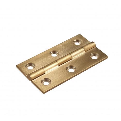Cabinet Hinge Premium Self Colour Brass 64 × 35mm Pair