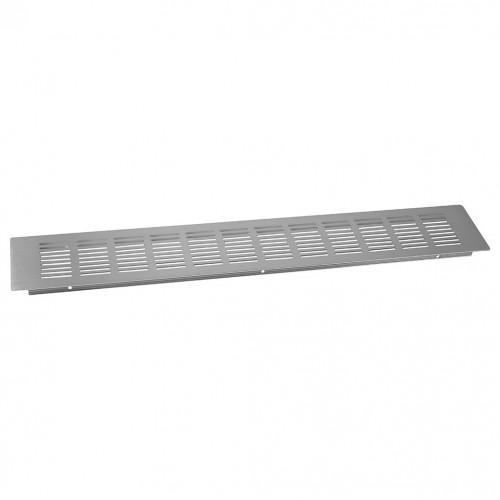 Plinth Grill Satin Anodised Aluminium 500 x 80mm