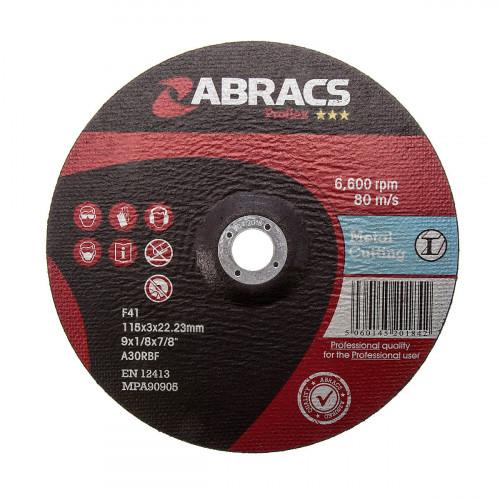 Metal Cutting Disc Flat 115mm × 3.0mm × 22.2mm Bore