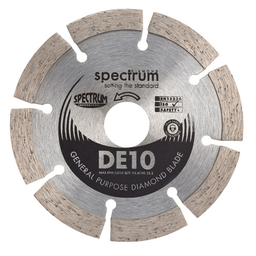 Diamond Blade Dry Professional Duty 115mm × 22.0mm Bore