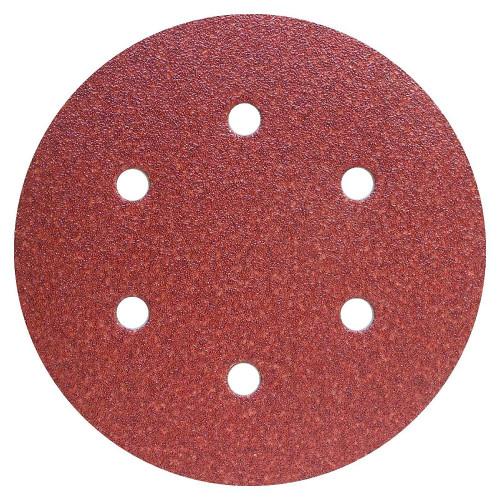 Abrasive Grip Disc Aluminium Oxide 150mm 6 Hole 180 Grit