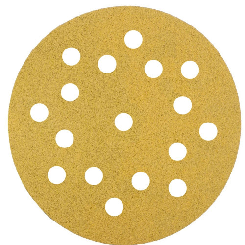Abrasive Grip Disc Mirka Gold 150mm 17 Hole 80 Grit