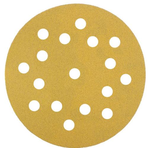 Abrasive Grip Disc Mirka Gold 150mm 17 Hole 80 Grit