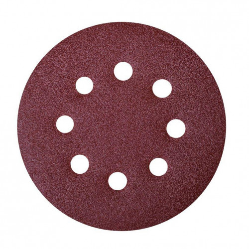 Abrasive Grip Disc Aluminium Oxide 125mm 8 Hole 40 Grit