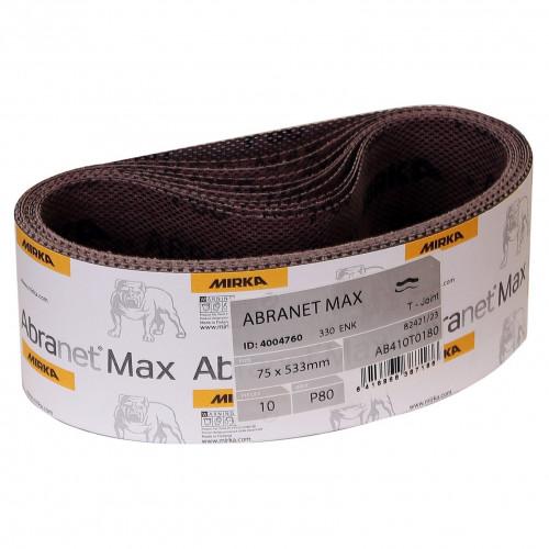 Abranet Max Abrasive Belts 100 X 610 80G 10pk