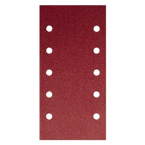 Abrasive Aluminium Oxide Grip Sheets 115mm × 230mm 10 Hole 80 Grit