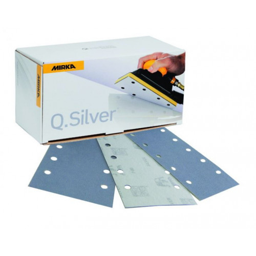 81 x 133mm 180g Q.Silver 8 hole Velcro abrasive sheets