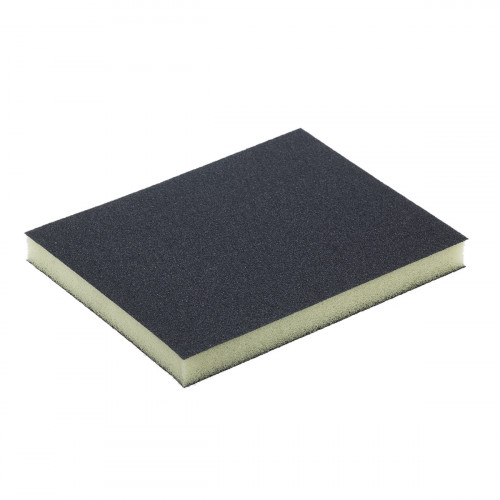 Abrasive Foam Double Sided Sanding Sponge 120 X 98 X 13mm 120 Grit