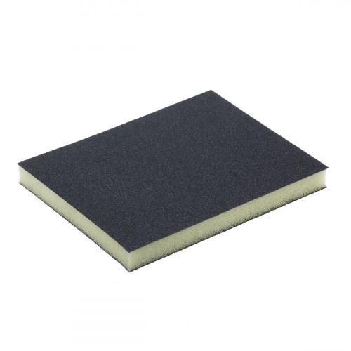 Abrasive Foam Double Sided Sanding Sponge 120 X 98 X 13mm 120 Grit