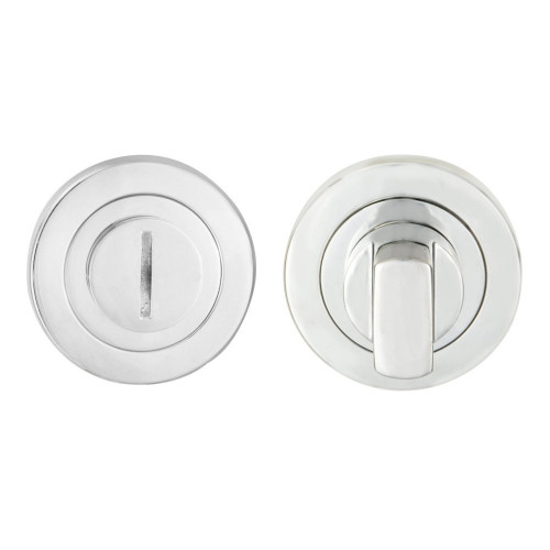 Bathroom Turn & Release 50mm Diameter Satin Stainless Steel