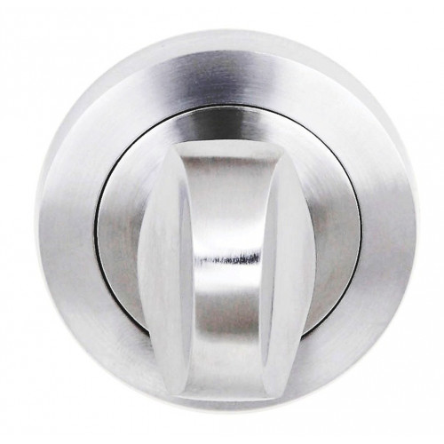Designer Bathroom Turn & Release On 50mm Round Rose Satin Chrome