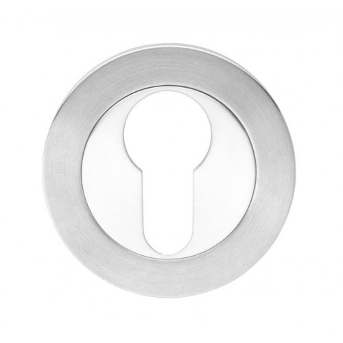 Atlantis Euro Escutcheon Dual Finish Satin/Polished Stainless Steel