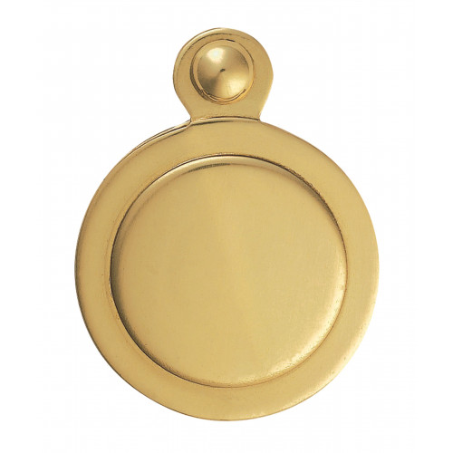 Covered Escutcheon For Mortice Key 32mm Diameter Polished Brass