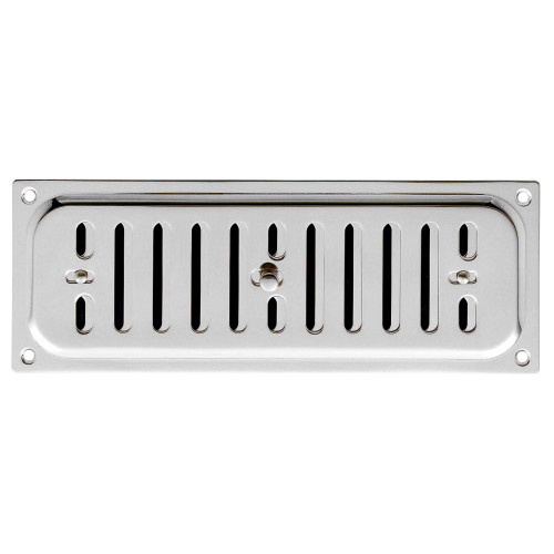 Vent Hit And Miss Style 242 × 89mm Polished Chrome