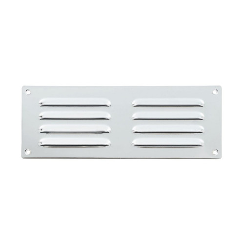 Vent Louvre Style 242 × 89mm Polished Chrome