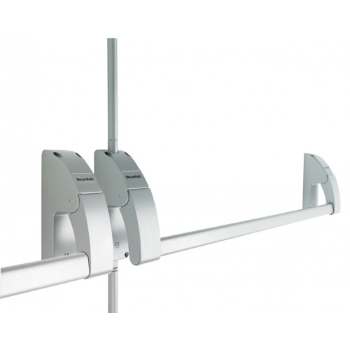 Emergency Exit Panic Bolt Double Push Bar Silver