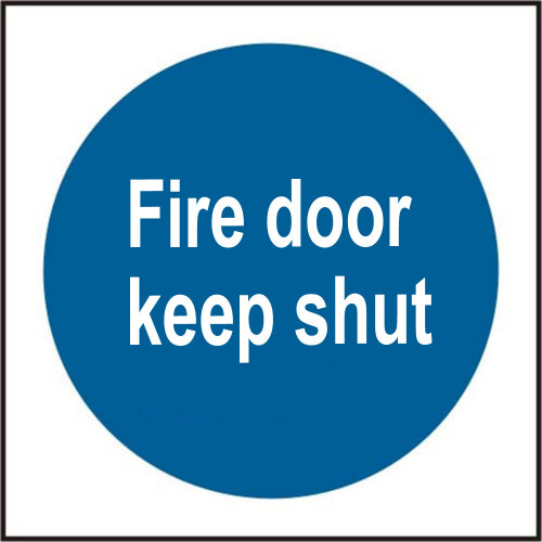 Fire Door Keep Shut Sign Rigid Plastic 100mm × 100mm