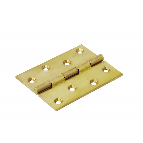 Butt Hinge Double Phosphur Bronze Washered Pair 100mm Self Colour Brass