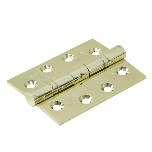 Ball Bearing Butt Hinge Grade 13 Pair 102mm Polished Brass Finish