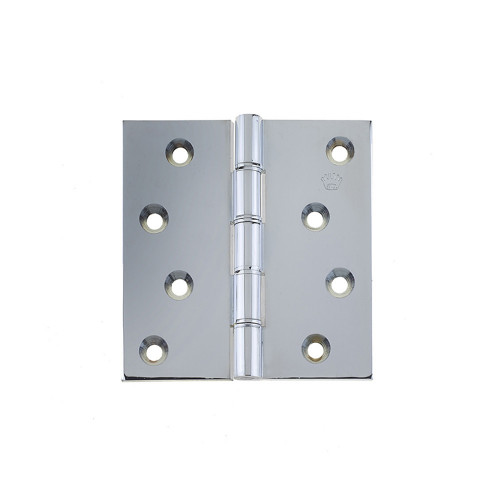 Projection Hinges Pair Double Phospher Bronze Washered 100 × 100mm Polished Chrome
