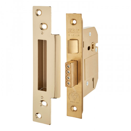 ERA Fortress Mortice Sashlock 5 Lever BS 64mm Brass