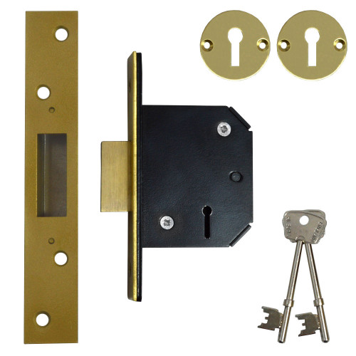 51mm 5L Willenhall deadlock, Brass