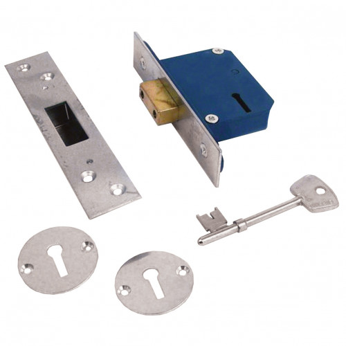 Deadlock Narrow Style 5 Lever 51mm Case Depth Satin
