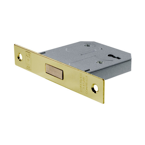 Mortice Deadlock 3 Lever 64mm Electro Brass