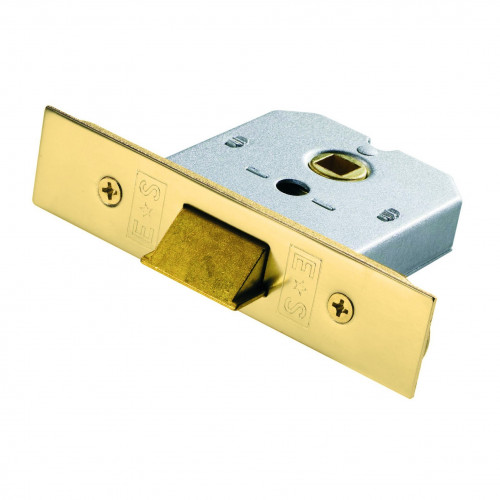 Mortice Latch Flat Box Type Heavy Spring 64mm Electro Brass