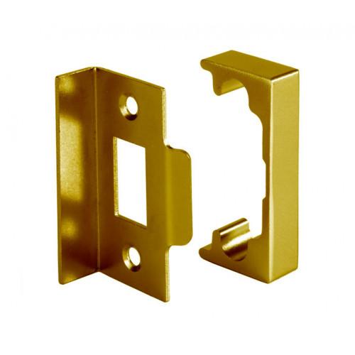 Rebate Kit To Suit Heavy Sprung Tubular Latch Polished Brass
