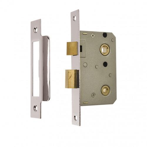 Mortice Bathroom Lock Imperial Premium 75mm Satin