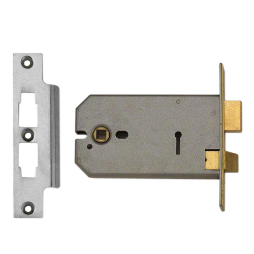 Mortice Sashlock Horizontal 3 Lever Case Depth 152mm Satin