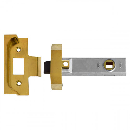 Union Rebated Tubular Mortice Latch 64mm Electro Brass