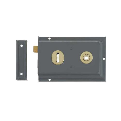 Rim Lock Traditional 140mm Black