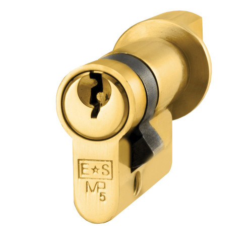 Thumbturn Euro Single Cylinder 45mm Brass