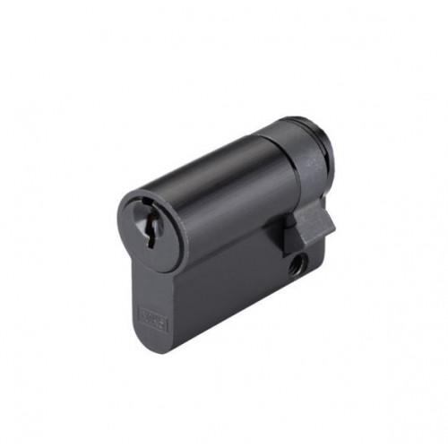 Single Euro Cylinder 45mm Black Keyed Alike