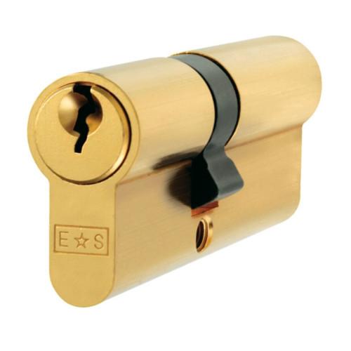 Double Euro Cylinder 45/35 = 80mm Brass Keyed Alike
