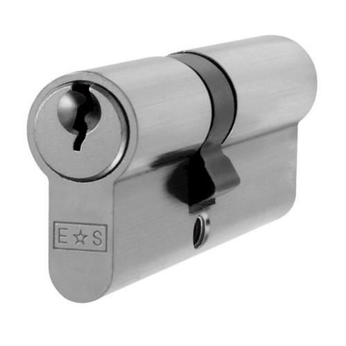 Double Euro Cylinder 40/30 = 70mm Satin Chrome Keyed Alike