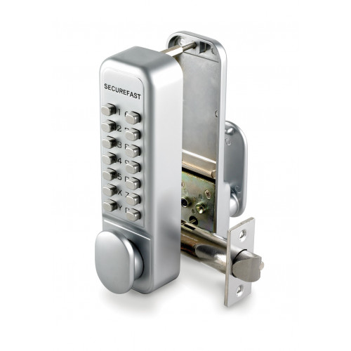 Digital Codelock With Holdback Brassed