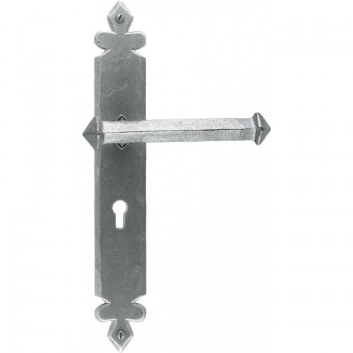 Anvil Tudor Lever Lock Set Pewter