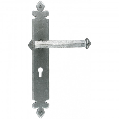 Anvil Tudor Lever Lock Set Pewter