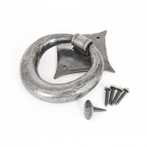 Anvil Door Knocker Ring Style 33658 Pewter