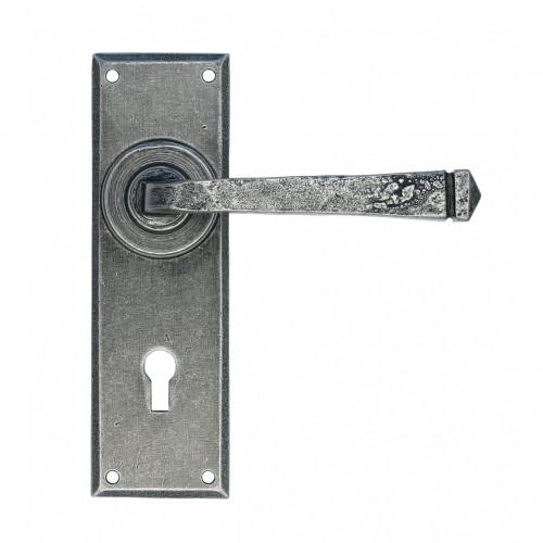 Anvil Avon Lever Lock Handle Set Pewter