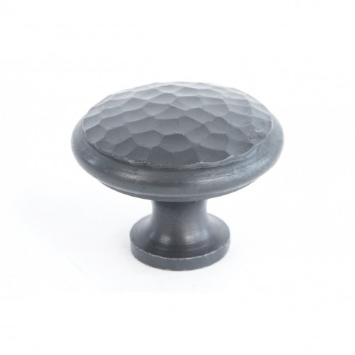 Anvil Cabinet Knob Hammered Beeswax 40mm