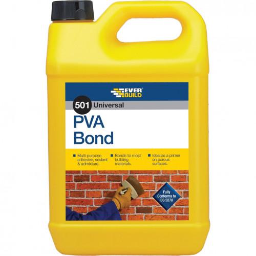 PVA Bond Adhesive/ Primer Everbuild 501 5L