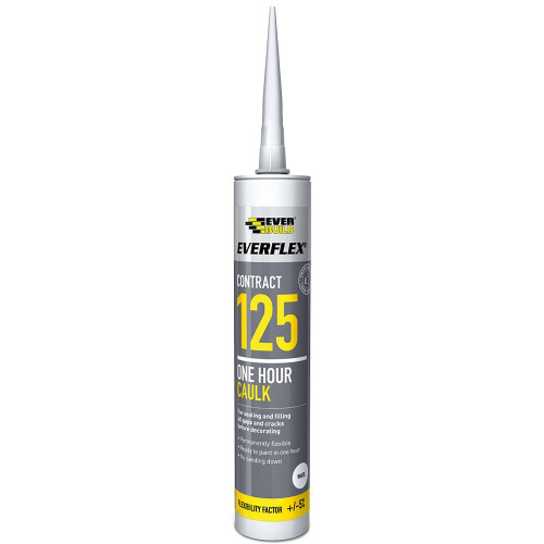 Caulk Everbuild 125 One Hour White 300ml
