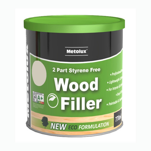 Wood Filler 2-Part Metolux Timbafil Light Oak Workshop Pack 770 ml