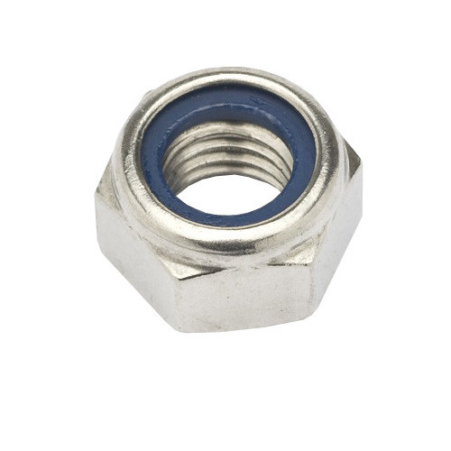 Hexagon Nylon Insert Nut  Stainless Steel  M10