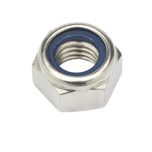 Hexagon Nylon Insert Nut  Stainless Steel  M10