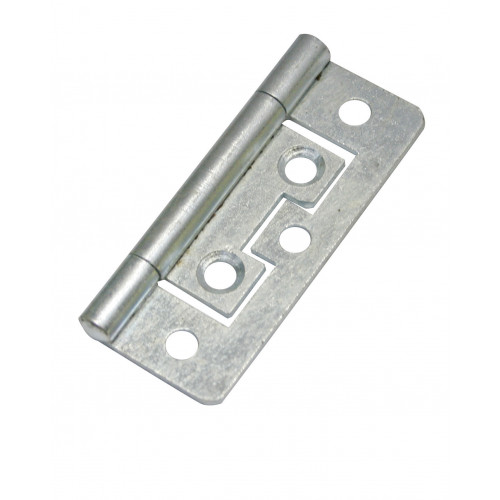 Flush Hinge BZP 75mm Pair